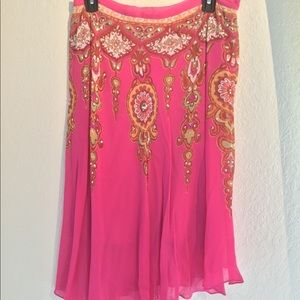Dresses & Skirts - Pretty pink and sequin flare flows skirt